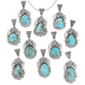Variations in Color and Matrix of Royston Turquoise Pendants 29050