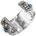 Native American Sterling Mens Bracelet 24975