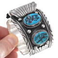 Navajo Sterling Silver Turquoise Watch 25278