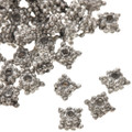 1 Ounce of 3mm x 6mm Silver Bali Bead Spacers 0072