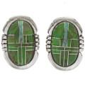 Gaspeite Opal Inlaid Earrings 27715