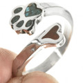 Silver Puppy Paw Ring 28767