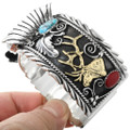 Turquoise Coral Elk Cuff Watch 23492