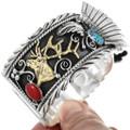 Native American Gold Elk Watch Cuff 23492