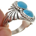 Navajo Turquoise Silver Mens Ring 25713