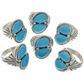 Blue Sonoran Turquoise Mens Ring 25713