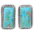 Kingman Turquoise Stud Earrings 28570