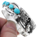 Turquoise Hammered Silver Cuff Bracelet 18096