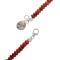 Native American Apple Coral Long Beaded Necklace 28301