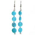 Kingman Turquoise Navajo Earrings 29235