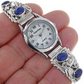 Lapis Lazuli Sterling Silver Native American Watch 23011