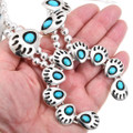 Natural Turquoise Native American Necklace 26437