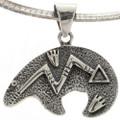 Sterling Textured Heartline Bear Jewelry 1998