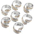 Navajo Silver Gold Scarf Ring 14991