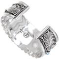 Navajo Heavy Gauge Sterling Bracelet 18936