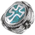 Sterling Native American Cross Ring 22973