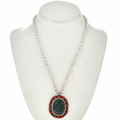 Native American Azurite Pendant Necklace 29354