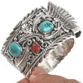 Native American Turquoise Silver Watch 24488