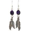 Navajo Amethyst Silver  Earrings 29404