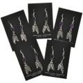 Dangling Feathers Navajo Earrings 29404