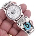Inlaid Opal Silver Watch 24445