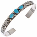 Navajo Turquoise Sterling Cuff Bracelet 18097