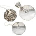Navajo Silver Gold Jewelry Set 21980