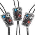 Real Bear Claw Sterling Bolo Ties 29113