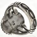 Navajo Hammered Silver Shank Ring 28965