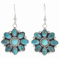 Turquoise Cluster Indian Earrings 29085