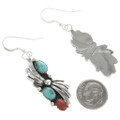 Navajo Silver Turquoise French Hook Earrings 25869
