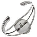 Gemstone Sterling Navajo Cuff Bracelet 15365