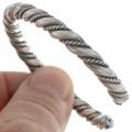 Navajo Double Twist Silver Cuff 27775