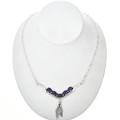 Navajo Gemstone Silver Link Necklace 29252