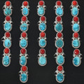 Variations in Turquoise Coral Stones 29305