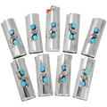 Turquoise Silver Bic Lighter Case Cover 27650