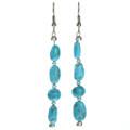 Navajo Turquoise Silver Earrings 29028