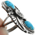 Pointer Style turquoise Silver Ring 26996