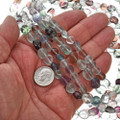 8mm by 10mm Fluorite Nugget Beads 16 inch Strand