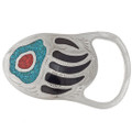 Turquoise Coral Belt Buckle 24215