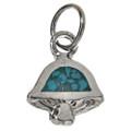 Turquoise Silver Mushroom Charm 17439