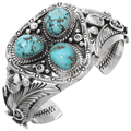 Turquoise Silver Mens Bracelet 28930