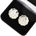 Navajo Hammered Silver Concho Cuff Links 29603