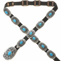 Turquoise Sterling Concho Belt 28925