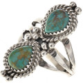 Turquoise Silver Ladies Ring 28901