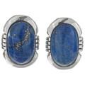 Denim Lapis Silver Earrings 27736