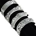 Assorted Sterling Tribal Cuff Bracelet 29719