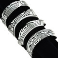 Assorted Sterling Tribal Cuff Bracelet 29719