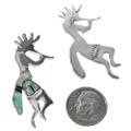 Navajo Silver Kokopelli Post Earrings 29539