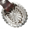 Native American Silver Concho Belt 13841